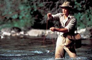 """Brad Pitt dans """"Et au milieu coule la rivière"""""""