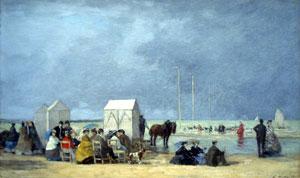 L'heure du bain - Eugène Boudin - 1865.